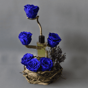 Long lasting blue rose with lavender and beaming blue perfume