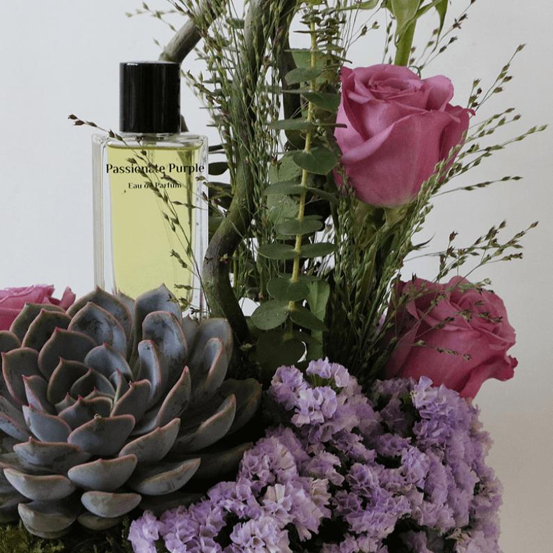 close up of passionate purple perfume