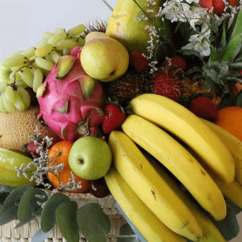 close up of tropical fruit