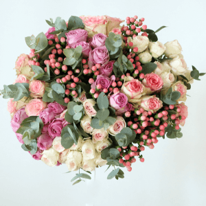 Pink, white and green bouquet