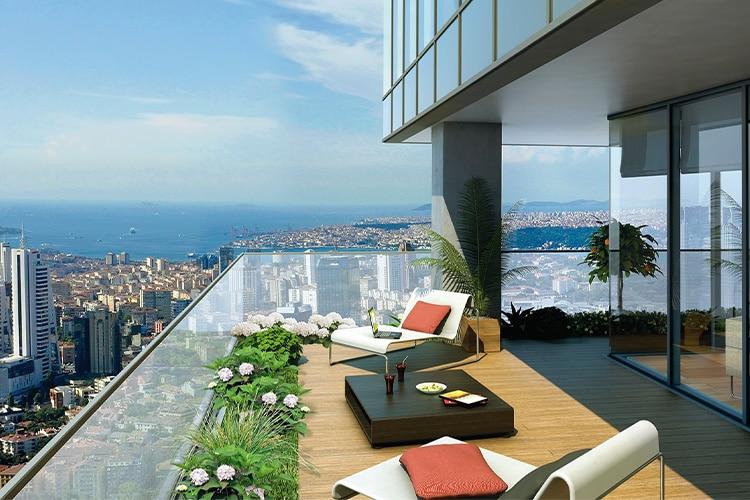 Modern Green Balcony