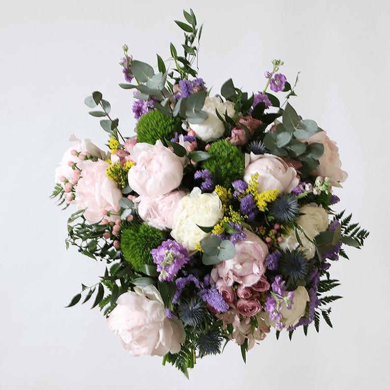 light pink peony, bouquet
