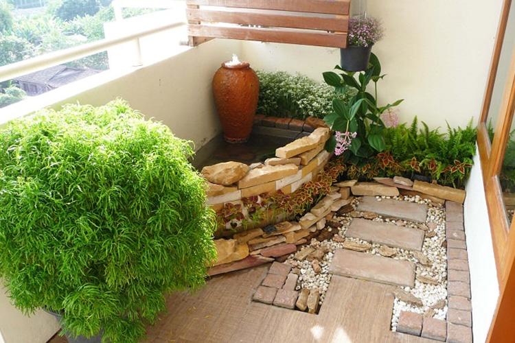 Sacred Oasis Green Balcony