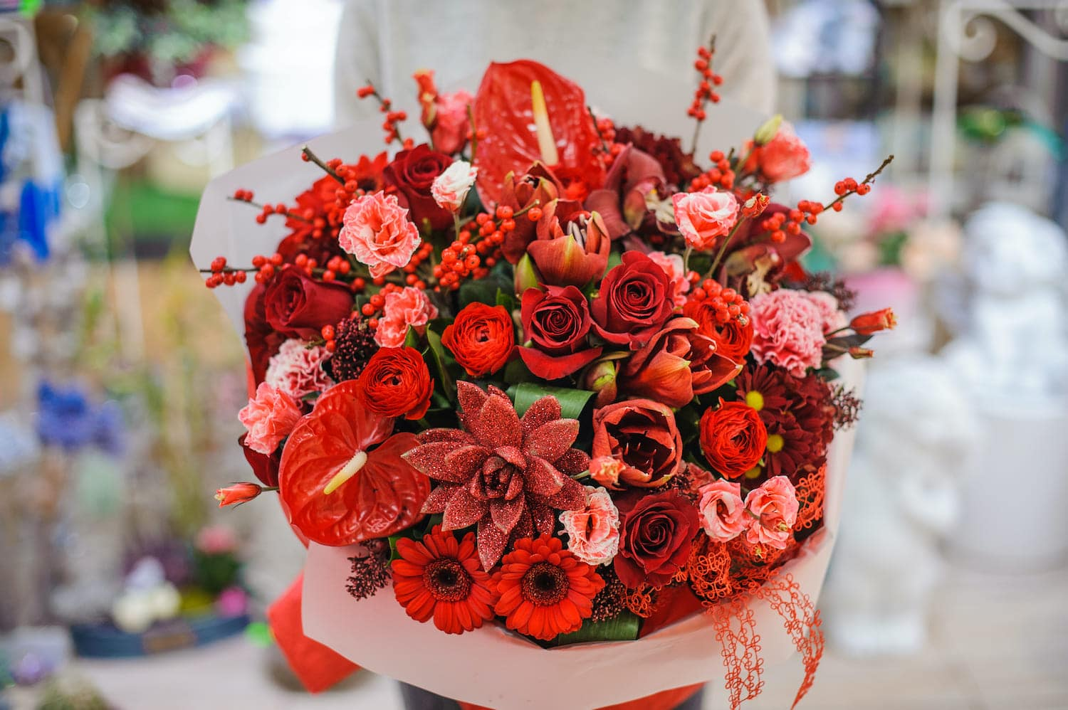 Christmas bouquet of flowers