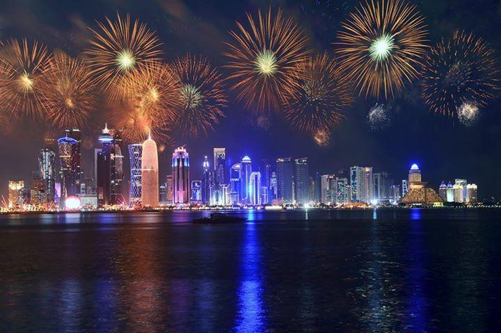 fireworks over qatar