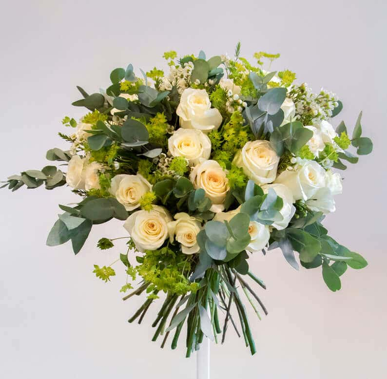 light yellow and green bouquet