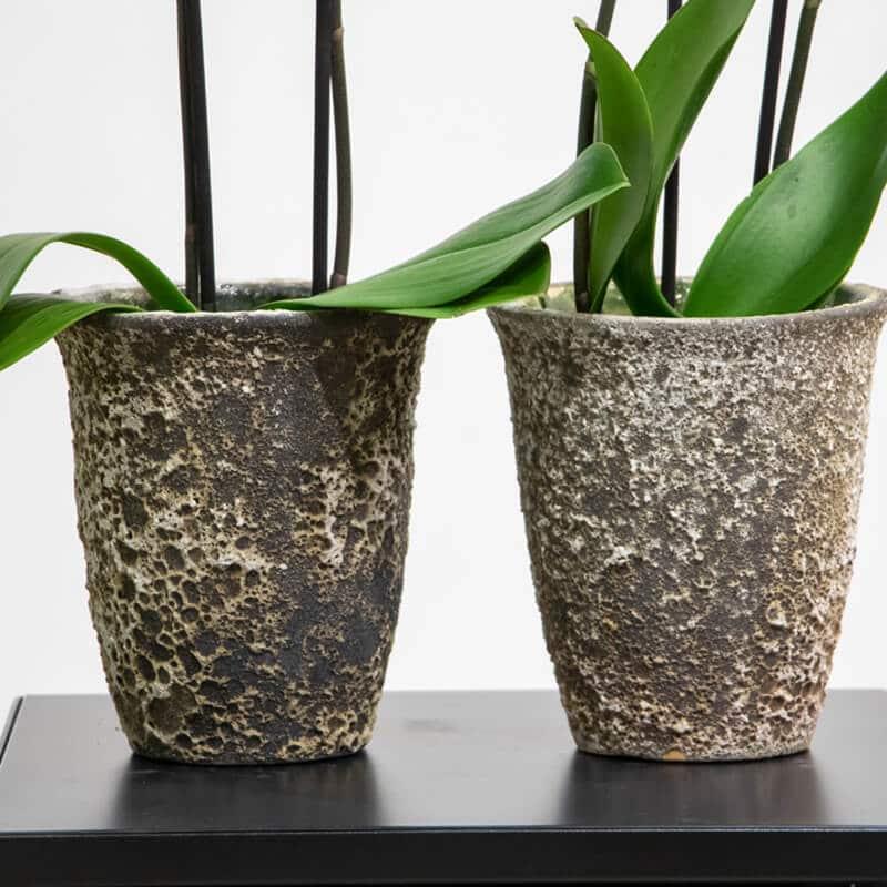 Close up of pots