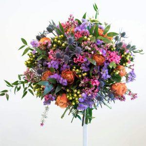 Purple, pink and orange bouquet