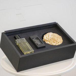 Pretty peach perfume gift box