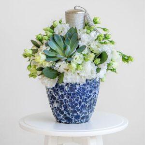 Candle arrangement with Succulent