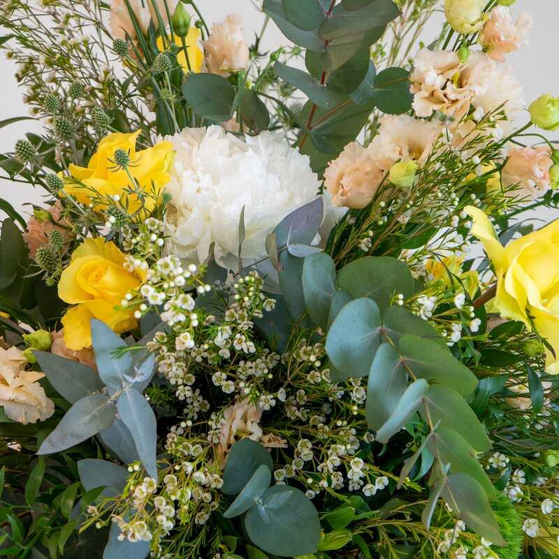 Close up of European flower arrangement