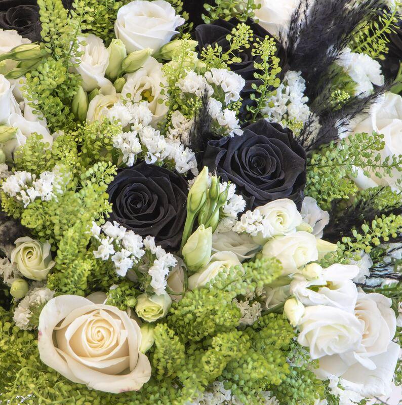 Long lasting rose bouquet close up