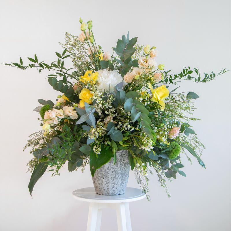 Natural European flower arrangement