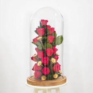 Bright pink Preserved rose