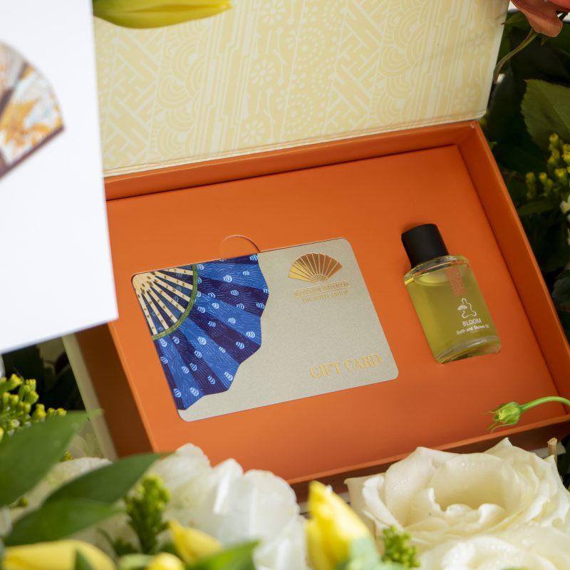 Close up of Mandarin oriental spa voucher