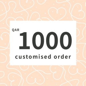 Customised order QAR1000