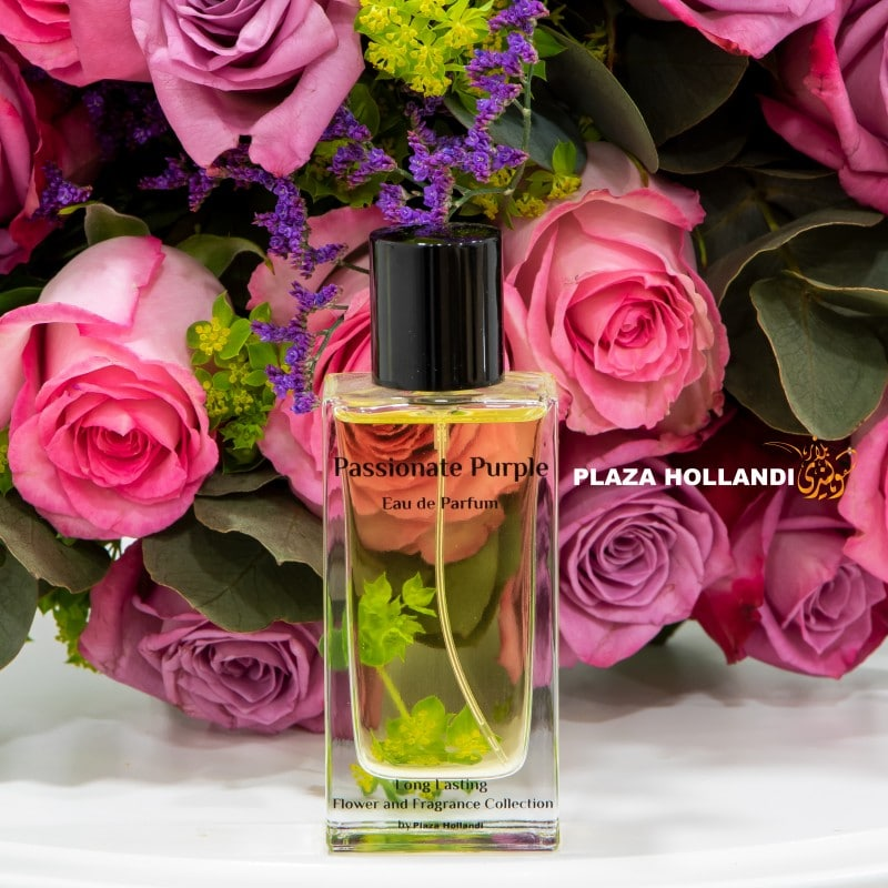 pink rose bouquet passionate purple perfume