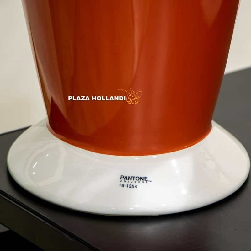 Close up of pantone colour on pot